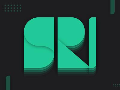Geometric Logo S_D_R_N 3d ui branding logo
