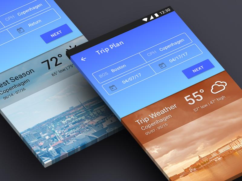 SkyShaman App travel case study plane trip booking weather flight