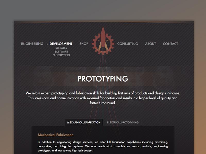 Suprock Technologies Website v-2 rocket gear engineering