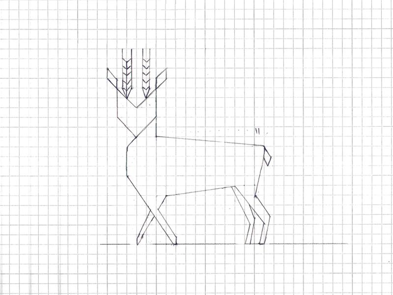 Deer Sketch line art deer