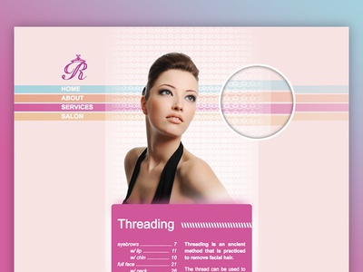 Rekhas Threading Website indian threading floral typography logo