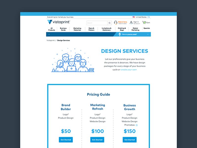 Vistaprint services simple