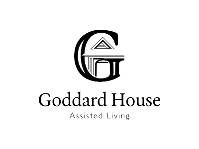 Goddard House G architectural assisted living logotype logo