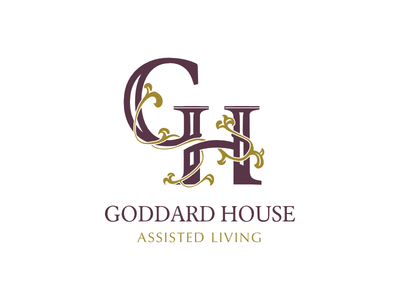 Goddard House Logo caps serif logotype floral assisted living