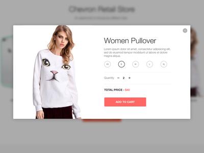 Product Modal View e-commerce store clothes market white shop view modal up pop