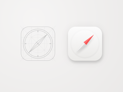 Daily UI #005 - Safari App Icon 005 daily ui location white draft sketch freebie safari icon app icon ios