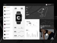 Fitness App Interface interface fitness ui run activity apple watch black. tracking app sport