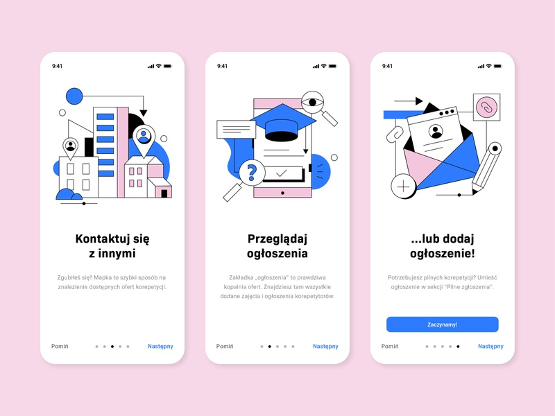 Onboarding Screens materialdesign onboarding illustration onboarding screens onboarding ui mobile onboarding flatdesign colors ux ui design app illustrations
