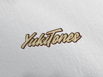 Yukitones gastronomy food logotype logo