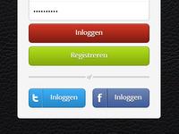 Login page iPad