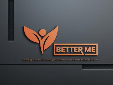 Better Me logo minimalist logo creative logo unique logo design logo design design logo