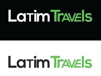 Latim travels Logo minimalist logo modern logo unique logo logodesign logo texture text logo