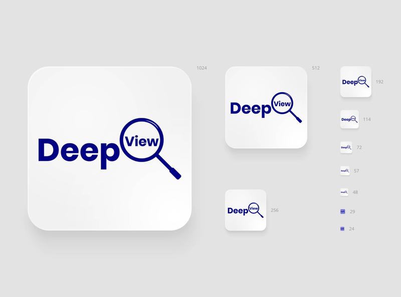 Deep View Logo creative logo creative app logo icon design app icon modern logo logo design design unique logo minimalist logo logo deep view logo
