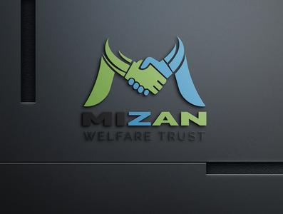 Mizan Welfare Logo creative logo digitial logo modern logo modern minimalist logo minimalist minimal logo design logos logo mizan welfare trust