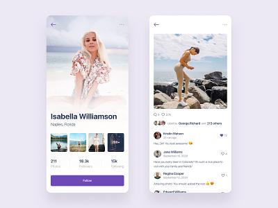 Social App ios app social media social application design mobile design uidesign application ui design ui  ux mobile ui mobile ios app design