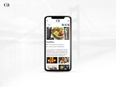 California Home Design application design ios application app design inspiration food restaurants restaurant app mobile application design mobile app ui design ux ui  ux ui mobile design mobile ui mobile