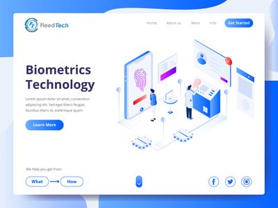 Modern UI Design for Web App - Biometrics Technology website minimal ux minimalist design modern design website concept website design design app web ui