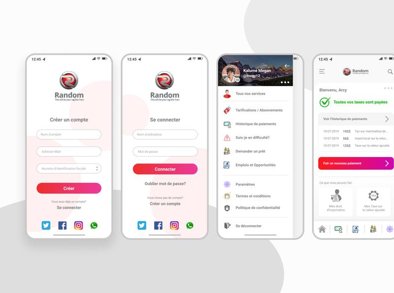 Tax Mobile App UI minimalist design figma ux ui mobileapp mobile tax