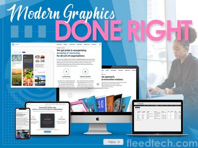 Modern Graphics Done Right fleedtech typography vector illustration photoshop branding design graphic design poster design