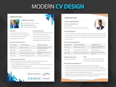 Modern CV Design fleedtech photoshop cv resume template cv template cv resume cv design cv