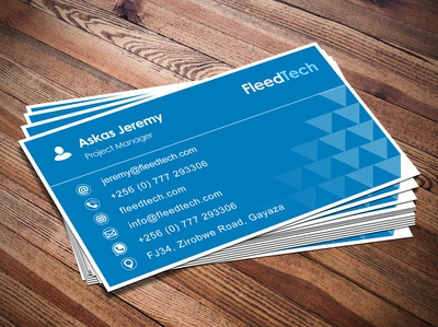 Modern Business Card Design done right fleedtech graphicdesign minimalist business card design business card businesscard