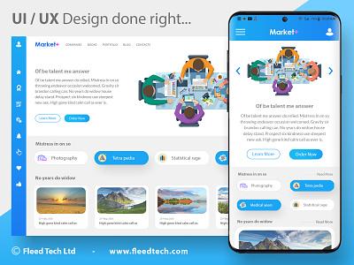Modern UI / UX design done right! bluedesign fleedtech websitedesign interfacedesign uiexamples uxdesign uidesign