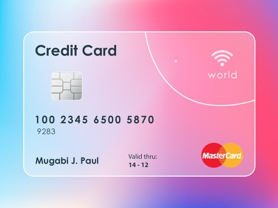 Glass morphism - Credit Card glass glassy fleedtech credit card glass morphism