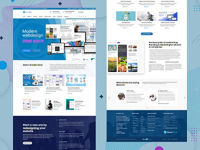 End-of-the-week Inspiration from our main website fleedtech branding tech website uxdesign uidesign modernui uibrainy