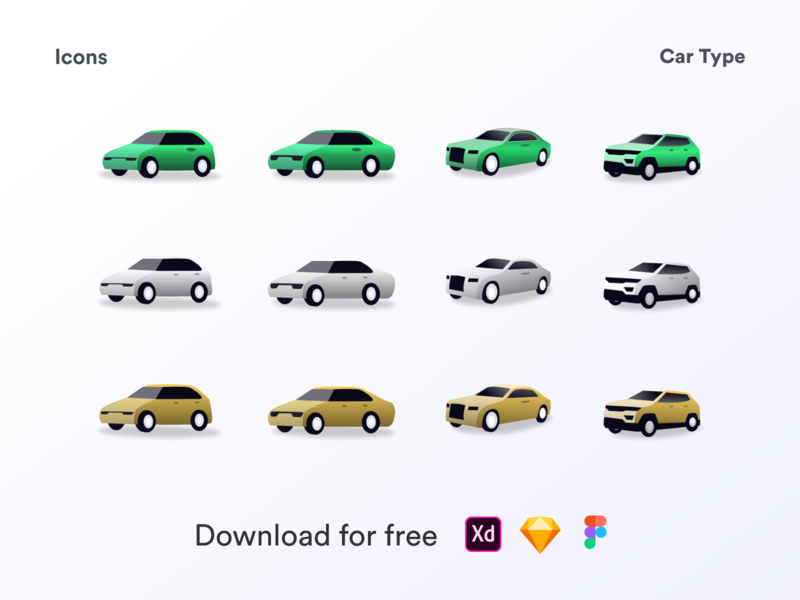 Car icon illustrartion icons drive car free freedownload freebies clean vector illustration