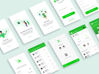 Payment App Design vishnudath vishvector paymetn product android ios screen mockup. app free