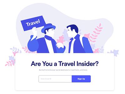 Travel Sign up Form! interface clean vector ux web illustration design ui