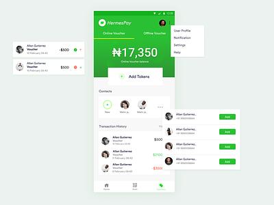 Voucher Screen payment voucher interface ux design ui
