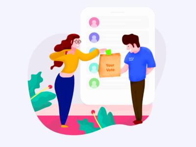 Vote freelance illustrator clean vote illustration
