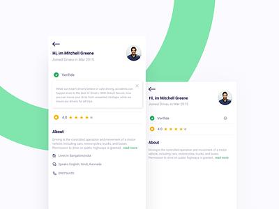 User Profile redesign user profile interface ux ui