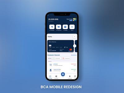 BCA Mobile Redesign minimal bank phone app ui design