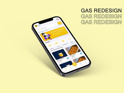 GAS redesign shopping ui graphic design