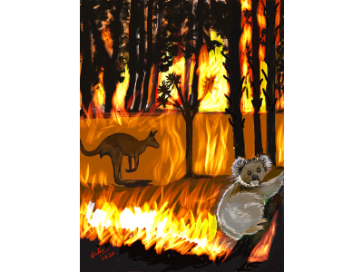 Wildfire painting