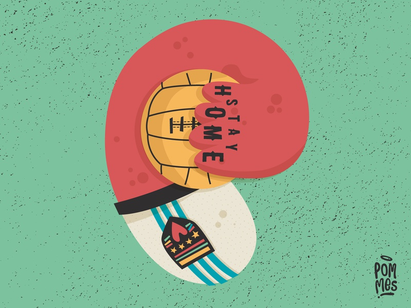 STAY HOME, STAY HOME vector typography stayhome stayathome corona pommes playlist music mannheim love three lions illustration iampommes graphic germany design 36daysoftype07 36 days of type 36daysoftype