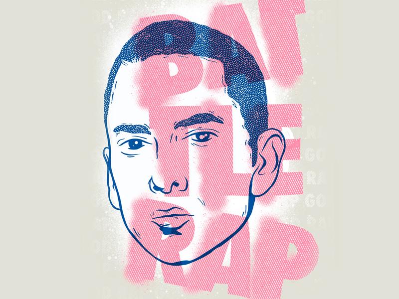 Battle rap mannheim drawing 8mile iampommes pommes illustrator fanart fun procreate ipad illustration personal project rap god battle rap portrait eminem hip hop hiphop rap
