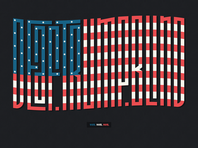 DEAF.TRUMP.BLIND custom type vote trump typography art letters font politics design graphic mannheim iampommes pommes vector illustration typography votevotevote usa flag usa election vote2020