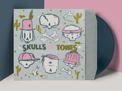 Skulls and tones ipad pro ipad adobefresco tones madewithcolorscafe music typography mannheim iampommes pommes vector skull art skulls doodle spotify playlist illustration skull