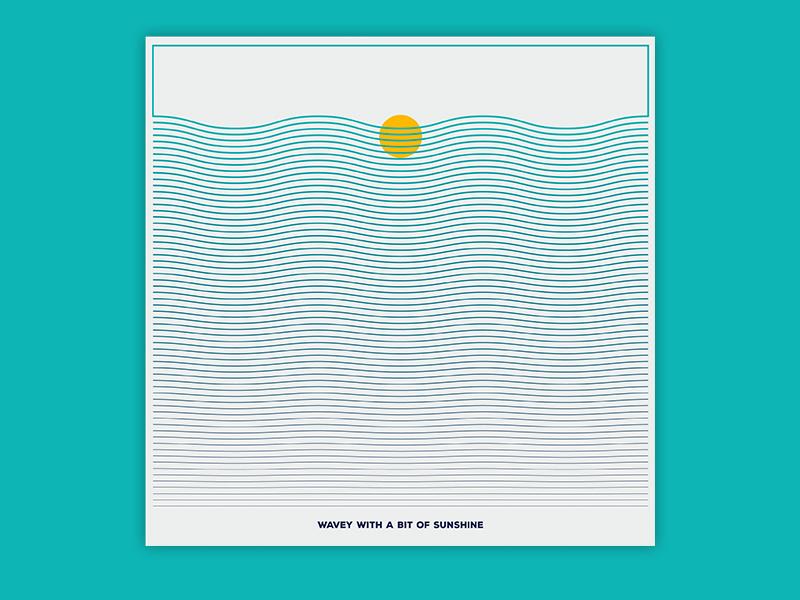 Wavey with a bit of sunshine mannheim iampommes pommes sunshine waves illustration music band artwork design cover vinyl