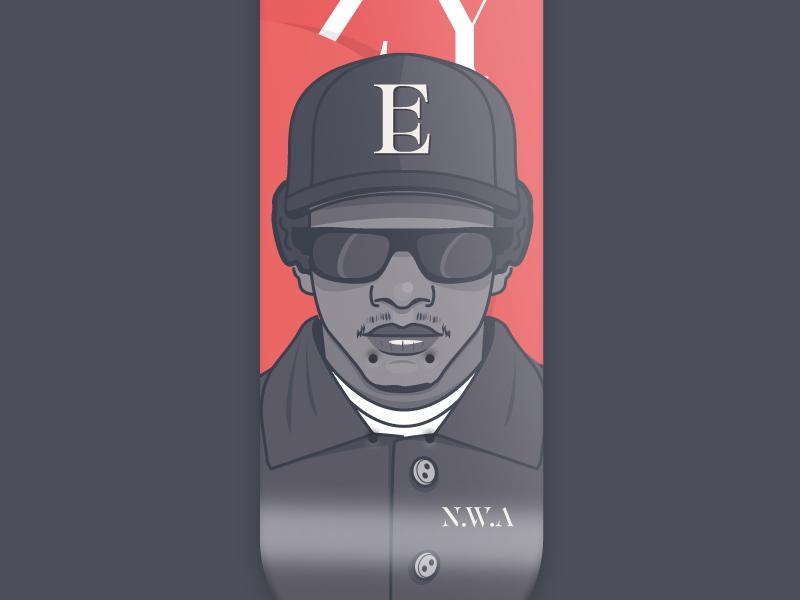 36 days of type - Eazy-e music 36 days of type rap skateboard graphic illustration font skateboarding hiphop skateboarddesign eazy-e typography