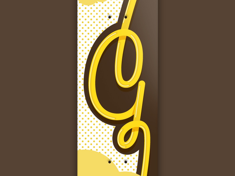 36 days of type - Gold typography gold skateboarddesign skateboarding font illustration graphic skateboard g 36 days of type vector