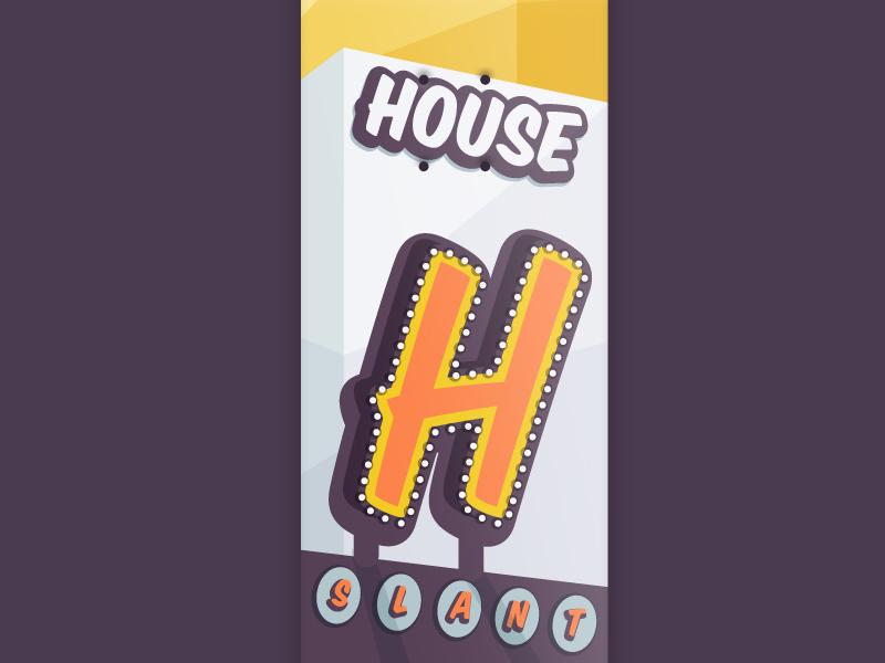 36 days of type - House vector 36 days of type h skateboard graphic illustration font skateboarding skateboarddesign sign house typography