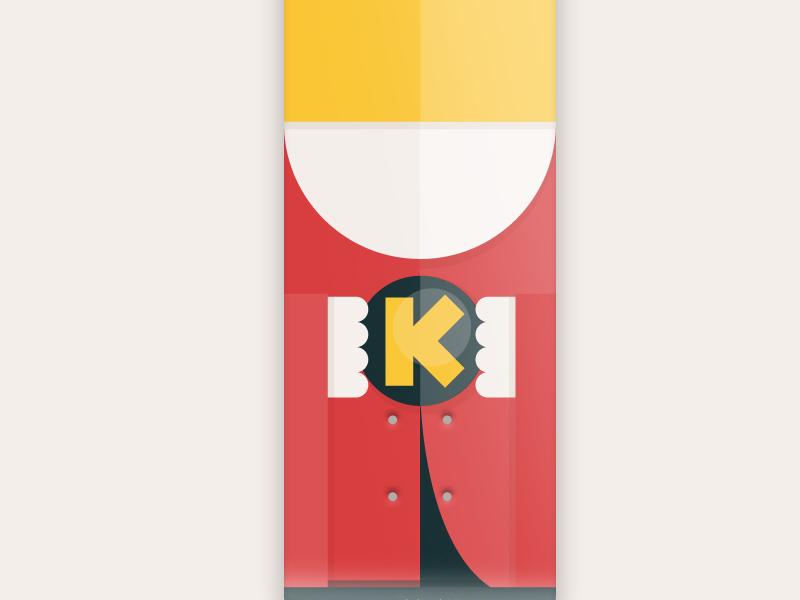 36 days of type - King typography king kilogram skateboarddesign skateboarding font illustration graphic skateboard k 36 days of type vector