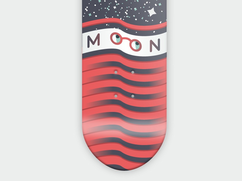 36 days of type - Moon vector 36 days of type m skateboard graphic illustration font skateboarding skateboarddesign space moon typography