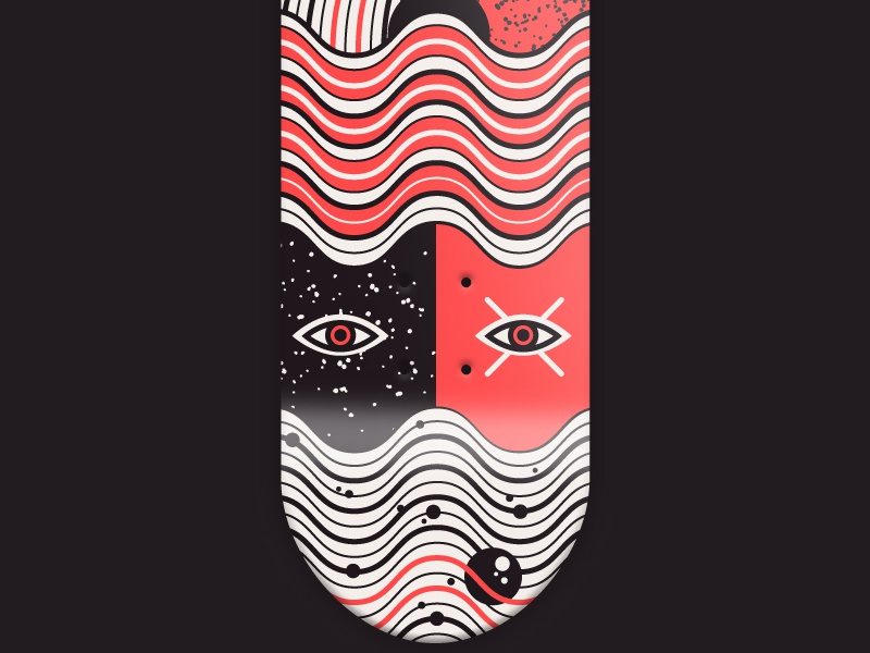 36 days of type - Wavy wavy vector 36 days of type w skateboard graphic illustration font skateboarding skateboarddesign wave typography