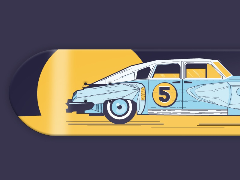 36 days of type - 5 typography oldtimer car skateboarddesign skateboarding font illustration graphic skateboard 5 36 days of type vector