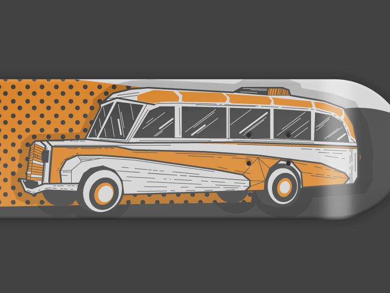 36 days of type - 6 typography oldtimer car skateboarddesign skateboarding font illustration graphic skateboard 6 36 days of type vector